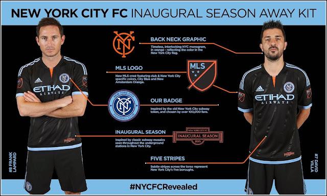 Frank Lampard and David Villa New York City FC Adidas 2015 Away Kit