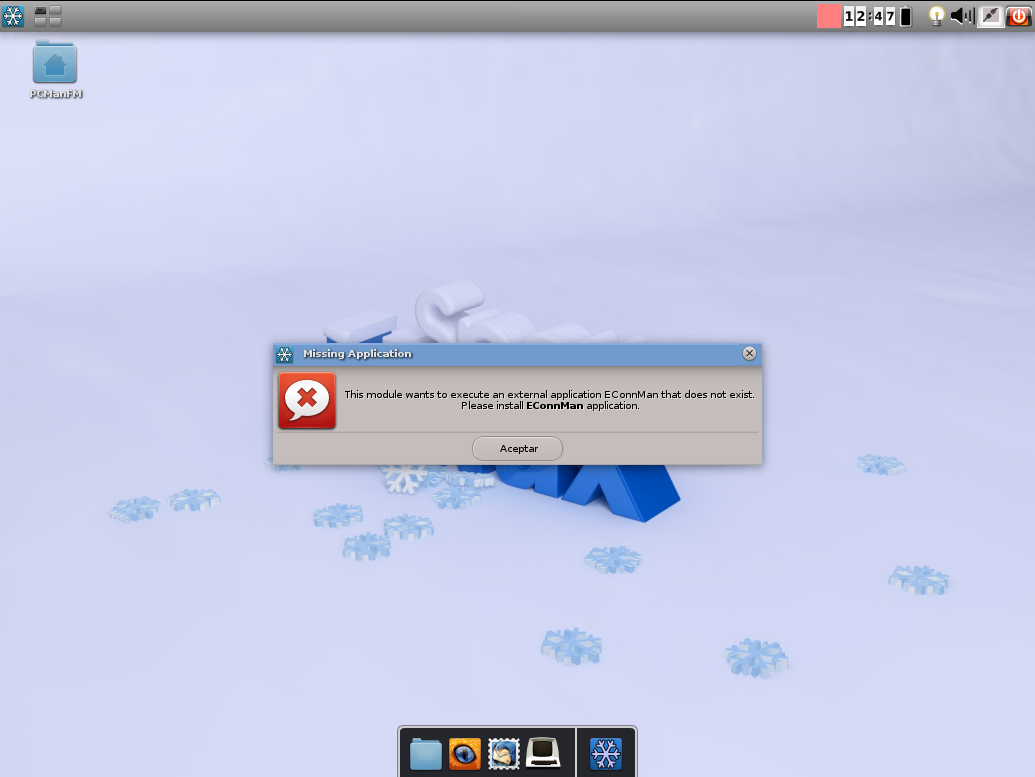 Error de Econnman en Snowlinux