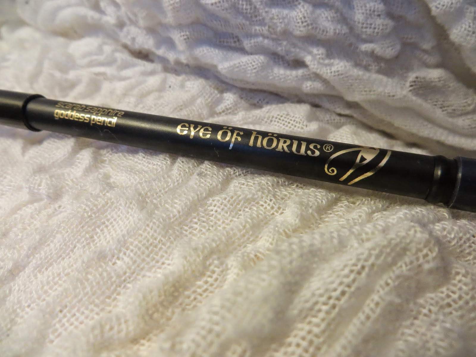 Eye of horus, eye of horus eye pencil, sapphire eye pencil, eye of horus swatch, beauty review, makeup review