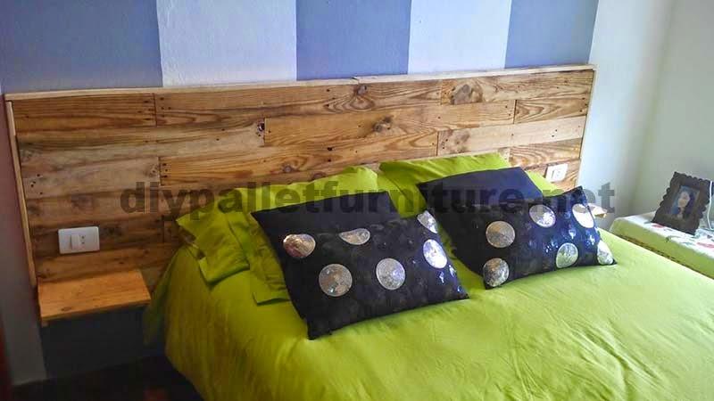 Cabecero para cama hecho con tablas - Cabeceros hechos con palets ...