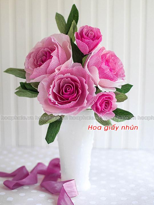 hoa giấy nhún, hoa giấy, hoa giấy nghệ thuật