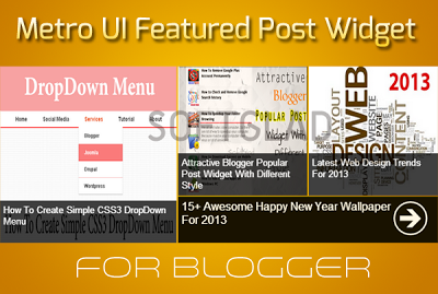 Metro UI Style for Post on Blogger