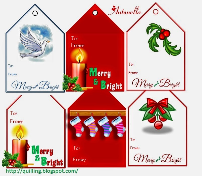 Antonella's Free Merry and Bright Gift Card Printable at www.quilling.blogspot.com