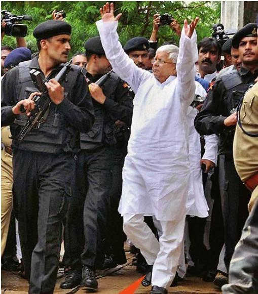Lalu Sent to Jail In Fodder Case