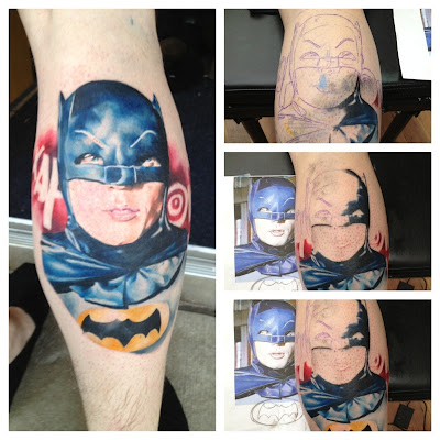 Tatuaje de Batman antiguo