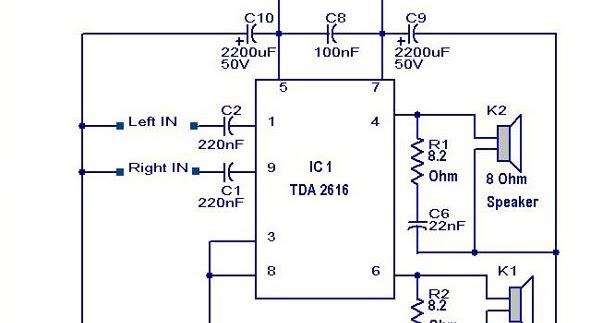 Qsc Power Amplifiers Tda2616 Circuit Diagram Wiring Diagram Online