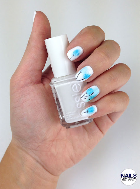 "Used: Essence Studio Nails 24/7 Nail Base -  Essie ""Blanc"" -  P2 ""Remember Me"" -  Essie ""Strut Your Stuff"" -  Essie ""Blossom Dandy"" -  P2 ""Eternal"" -  Seche Vite Dry Fast Top Coat -  Kleines Schwämmchen -  Dünner Pinsel"