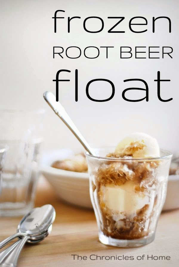 Super simple frozen root beer floats by The Chronicles of Home