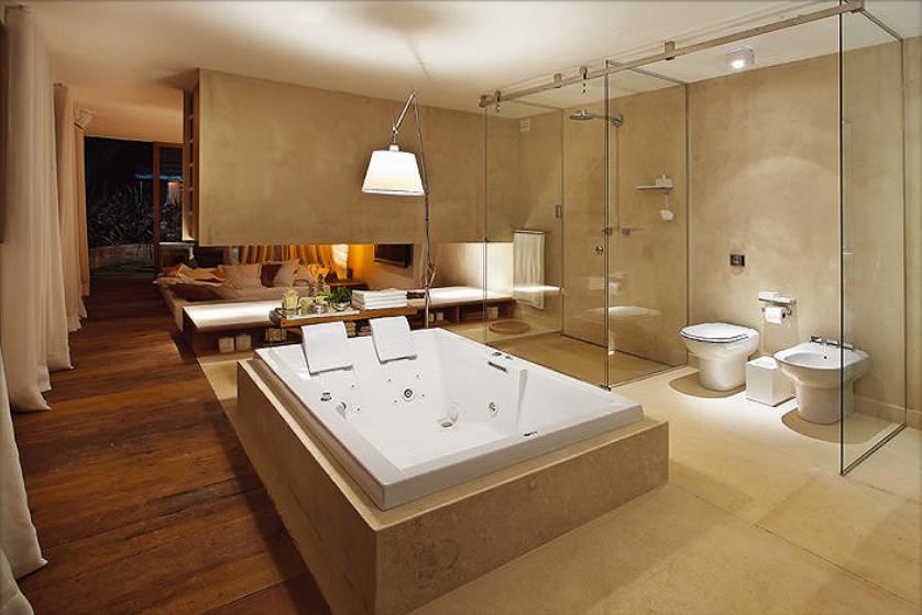 Banheiro Integrado ao Quarto! Veja modelos e dicas!  Decor Salteado  Blog d -> Banheiro Suíte Decorado