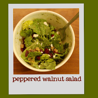 peppered walnut salad