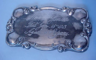 Coffin Plate Of Mary Jones