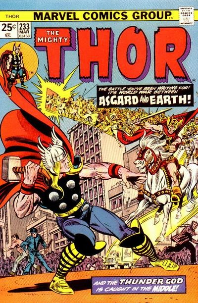 Thor #233, Earth vs Asgard