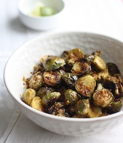 roasted brussels sprouts recipe with spicy asian sauce