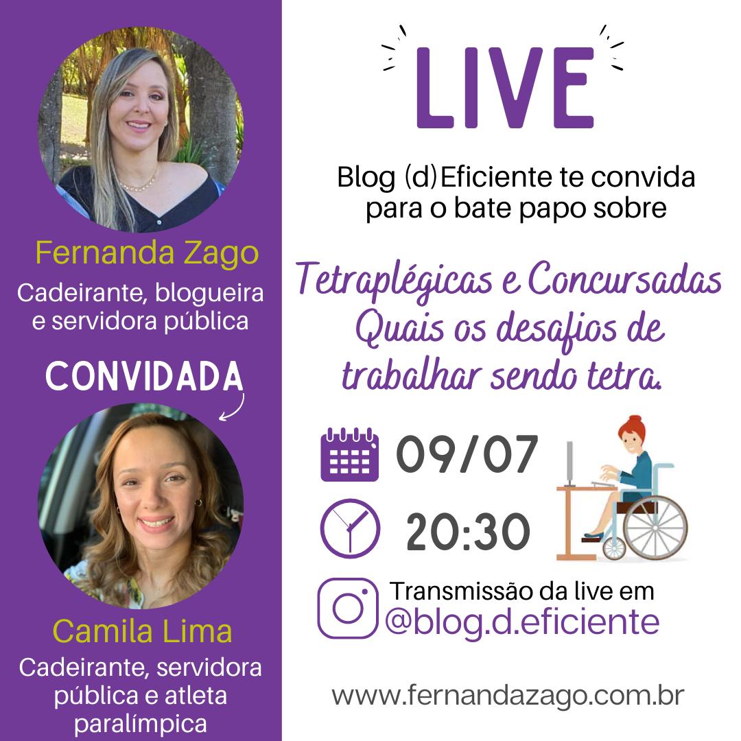 Live com a Camila Lima