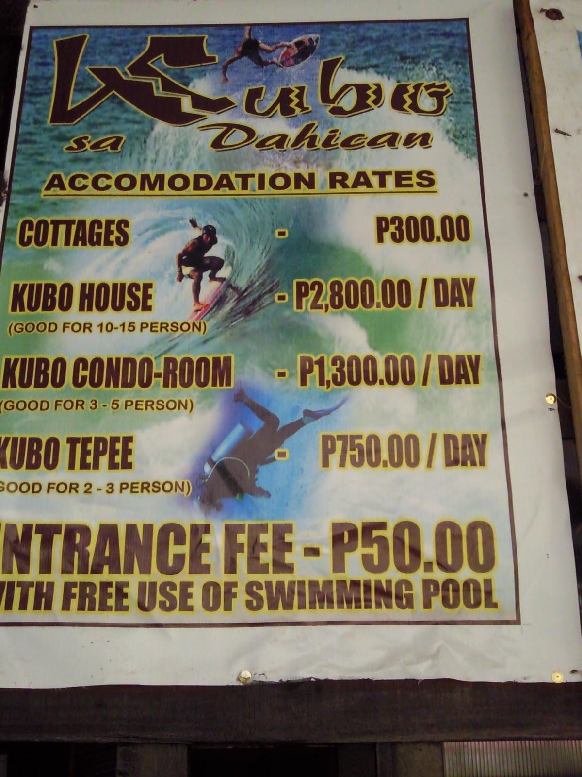 Kubo Sa Dahican Room Rates