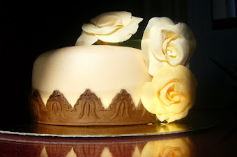 1º Tarta fondant del curso con Mª Robledo de Fondant&Cake.