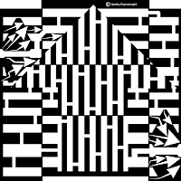 black and white Up Arrow Maze
