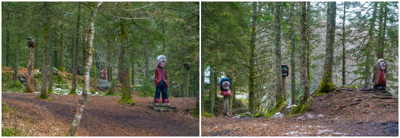 statues on mount floyen