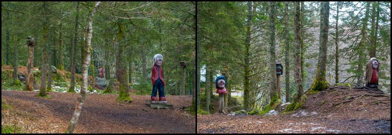statues on mount floyen