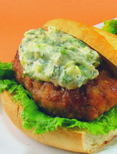 Grilled Pork Burgers Indochine Asian-Style Turkey Burgers with Wasabi ...