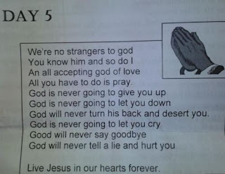 funny rick astley prayer