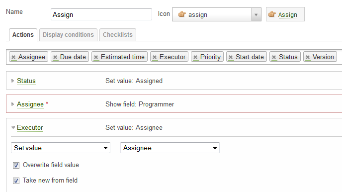 redmine plugin luxury buttons assign