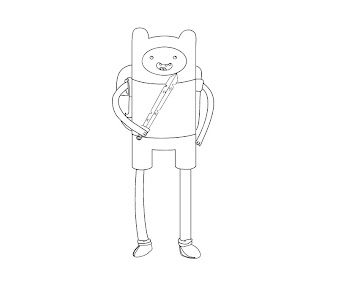 #18 Finn Coloring Page