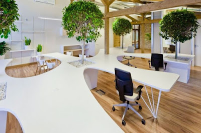 Escritórios - escolhas de materiais sustentáveis