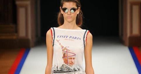 camiseta estampada con vladimir putin, paris