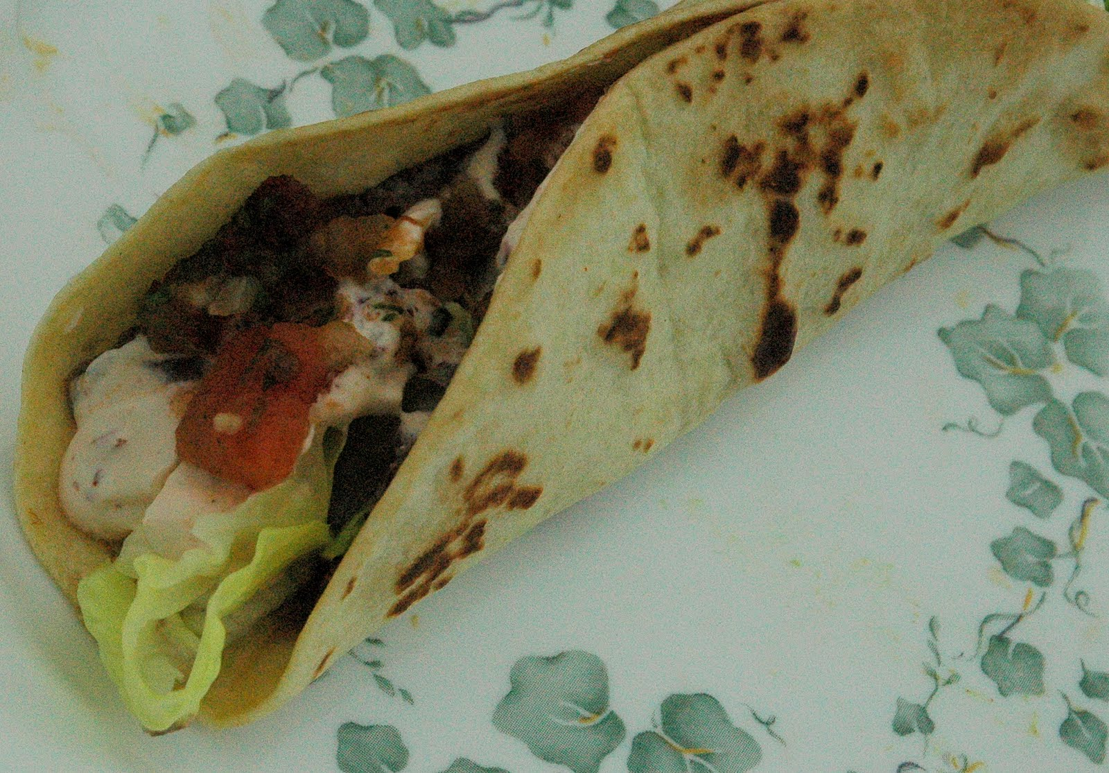 Spice Girl: Black Bean and Cheese Tacos