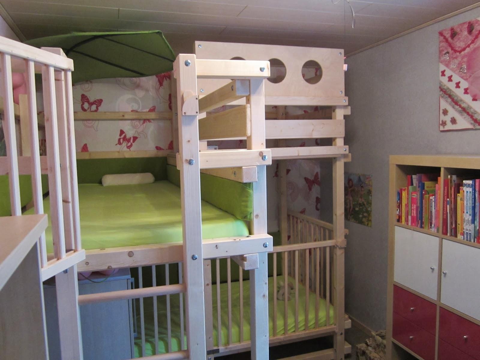 Das Bett ist nach dem GULLIBO Bauplan mit einigen eigenen Wünschen ...