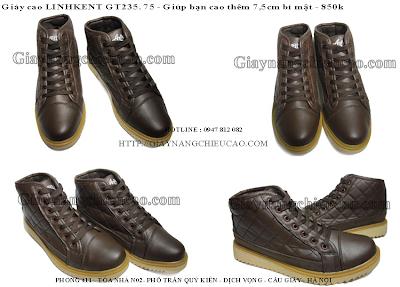 giầy nam Linhkent GT235. 75
