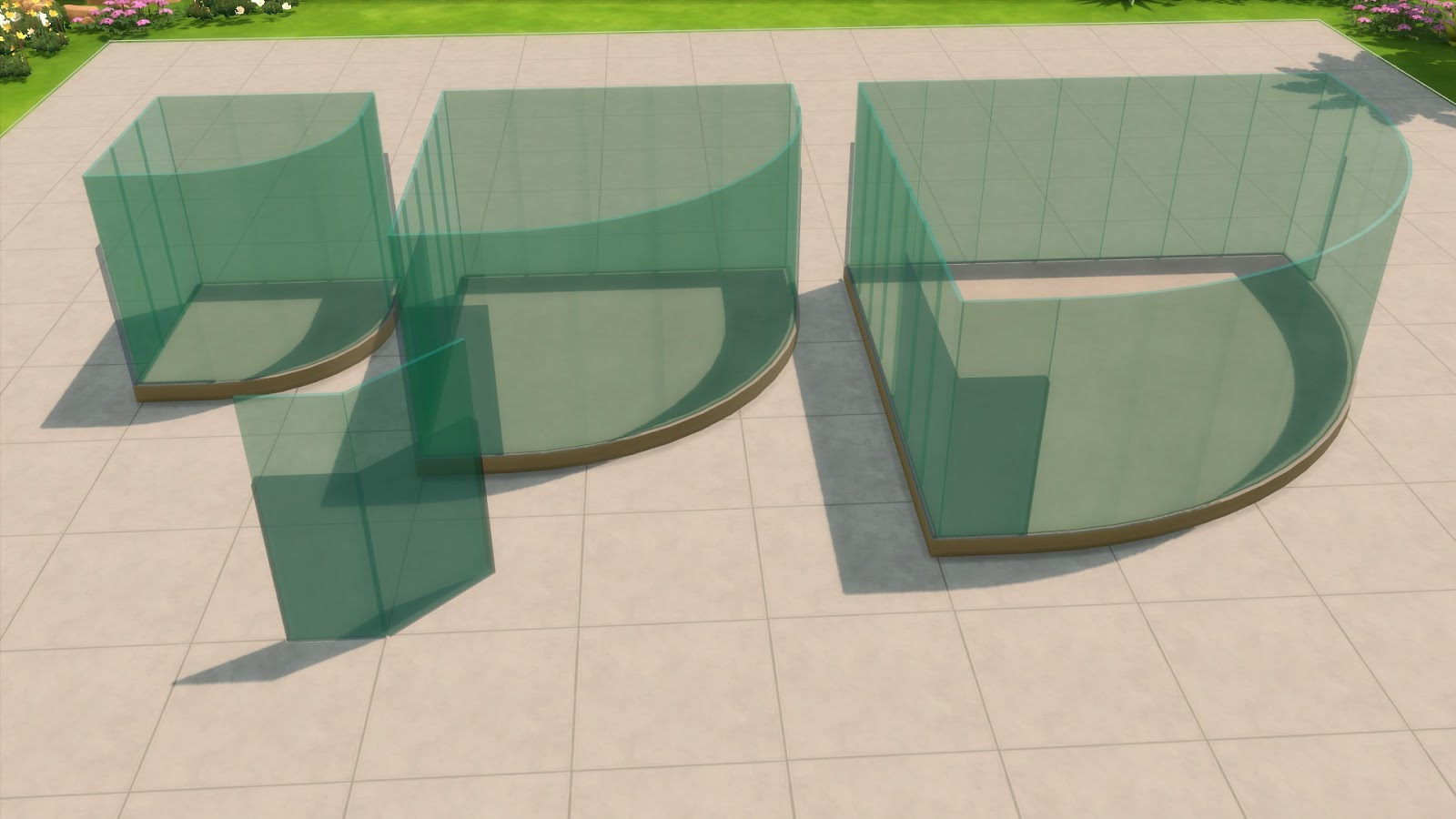 My Sims 4 Blog Blue Glass Fence By Maloverci