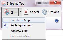 4 model tangkapan layar dengan snipping tool