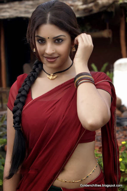 Richa gangopadhyay in half saree exposing images