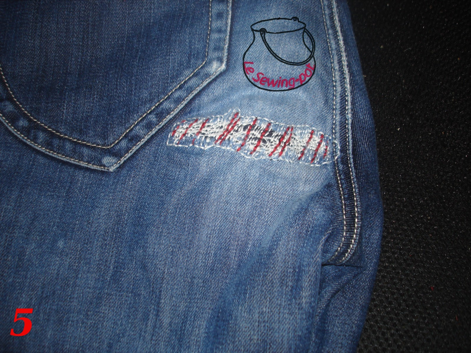 jeans repair embroidery diy
