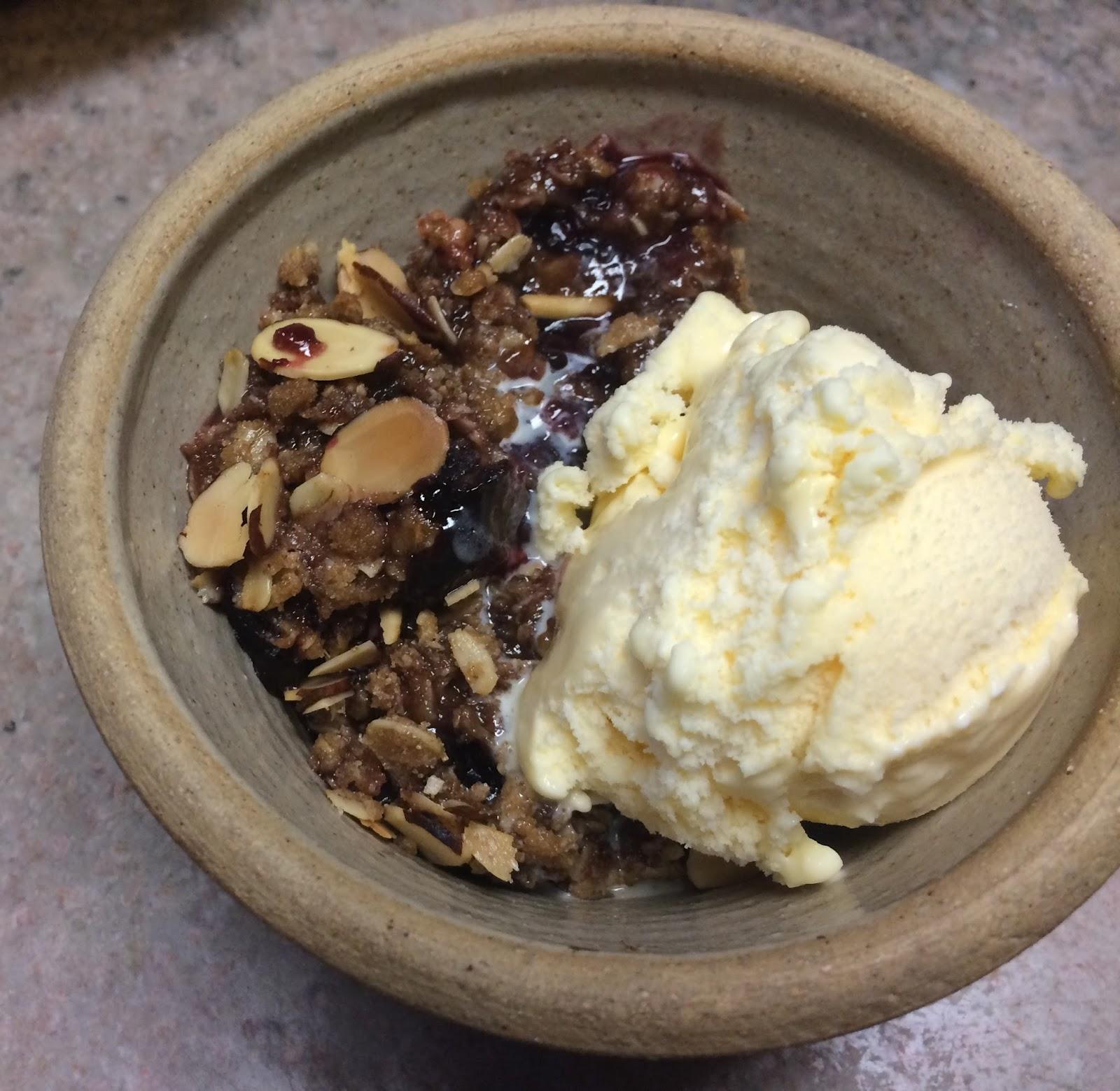 ... Barry & Meta: Blackberry Nut Crisp -- fruit & nuts paired delicio...