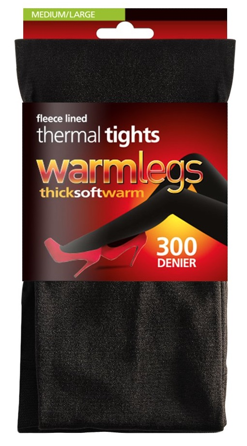 Thermal Winter Tights Girls 300 Denier Opaque Warm Fleece Lined Tights