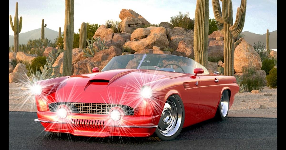 ford thunderbird custom ii  vizualtech  auto