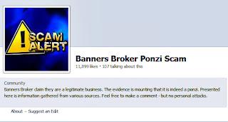 Banners Broker Ponzi scam Fb