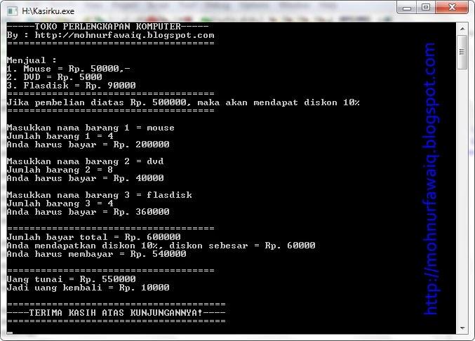 Membuat Program Kasir Sederhana dengan C++ | YukCoding