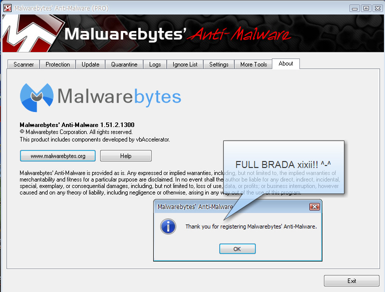 Is the malwarebytes anti malware offline update phone popup screen