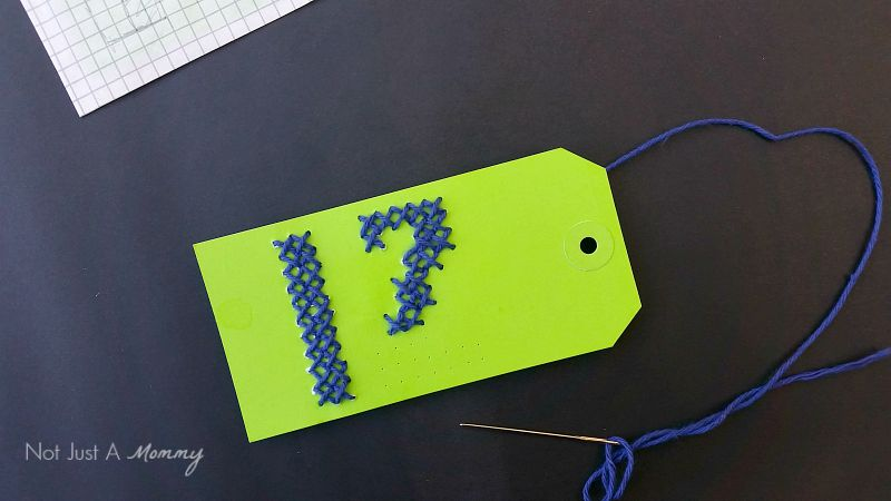 Seattle Seahawks 12th Man Gift Tag cross stiching