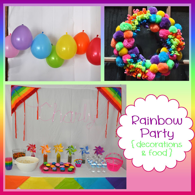 Rainbow Party {decorations & food}