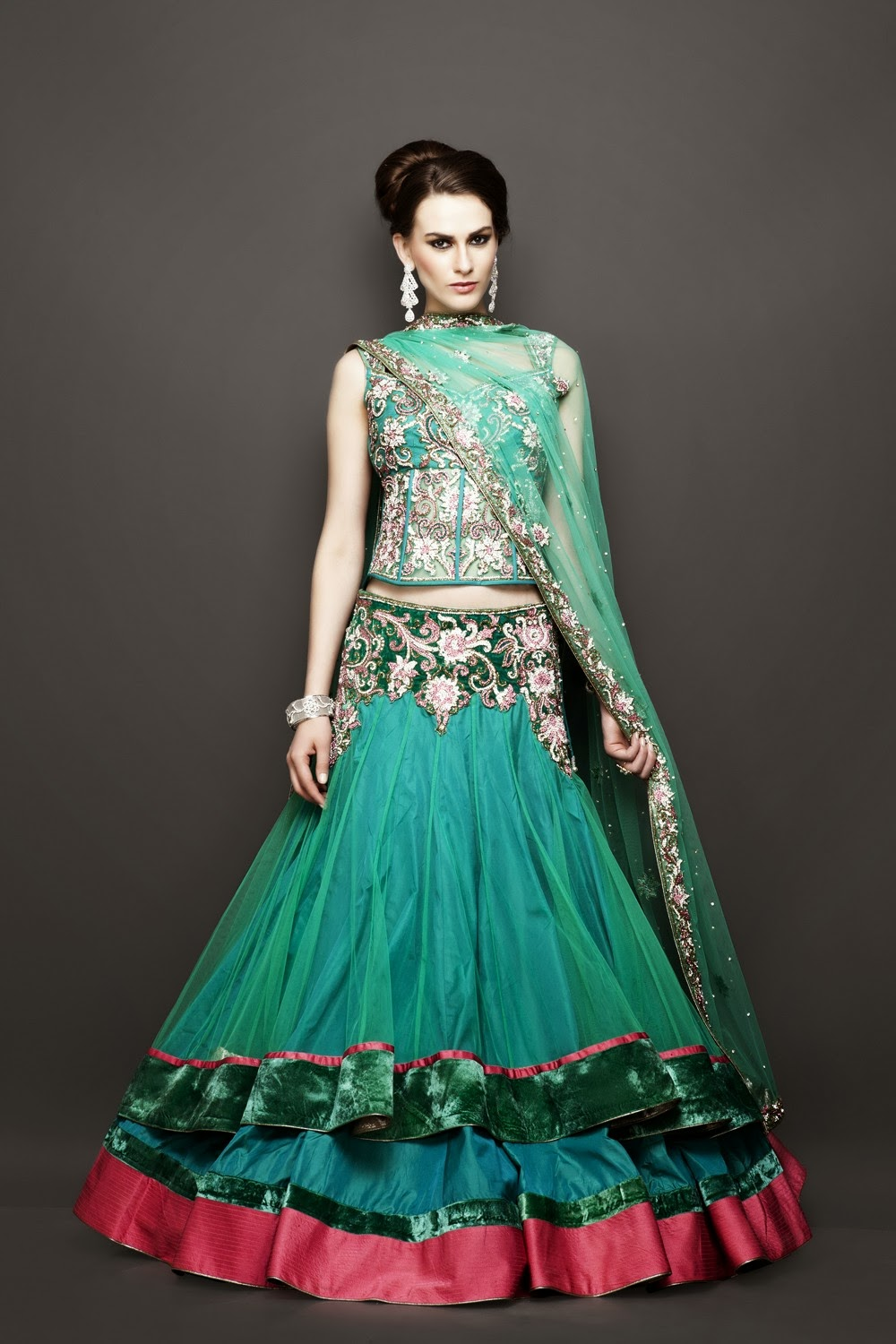 Best Wedding Bridesmaid Lehenga Outfits 2014 - Fashion Me Now