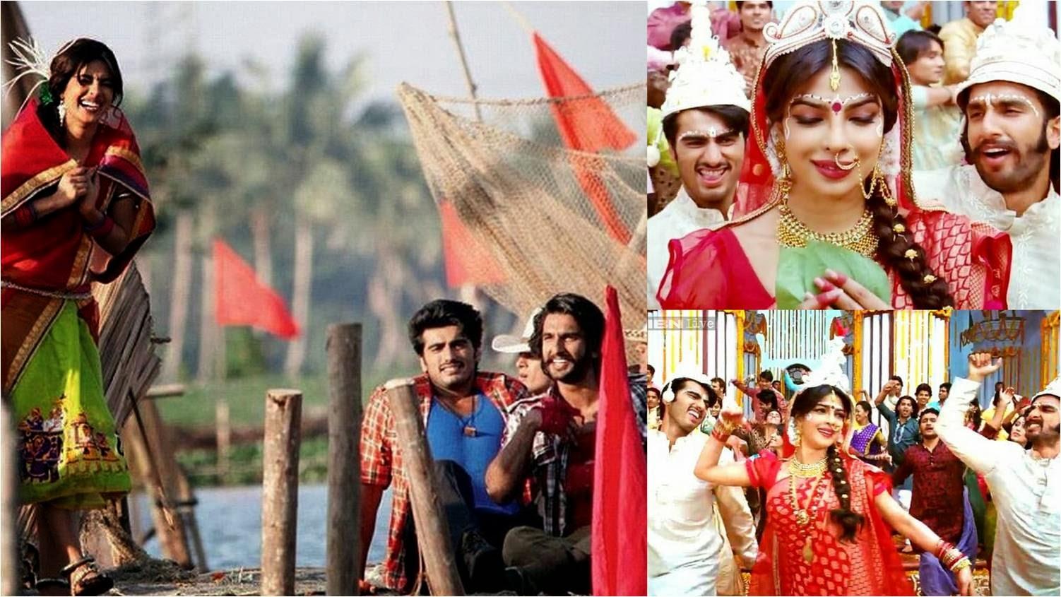 Priyanka Chopra, Arjun Kapoor and Ranveer Singh in Gunday movie stills