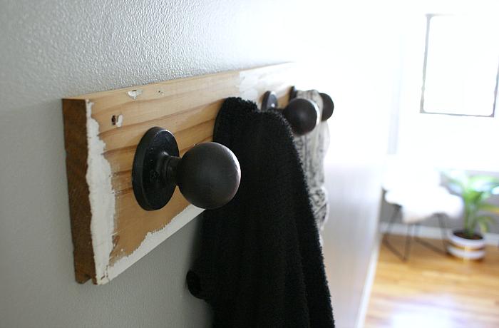 How to Make DIY Upcycled Doorknob Coat Hooks
