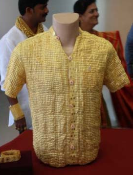worlds most expensive pure solid gold shirt