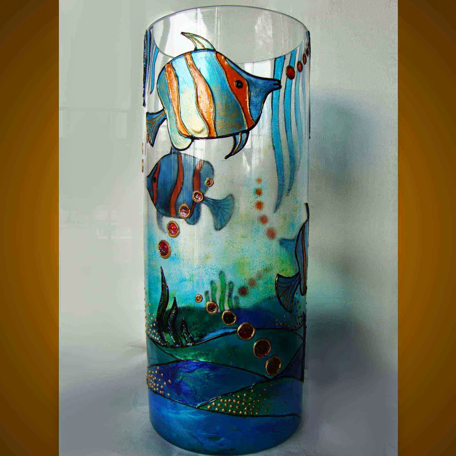Learn to stand on your own how to make glass painting for Simple glass painting pictures