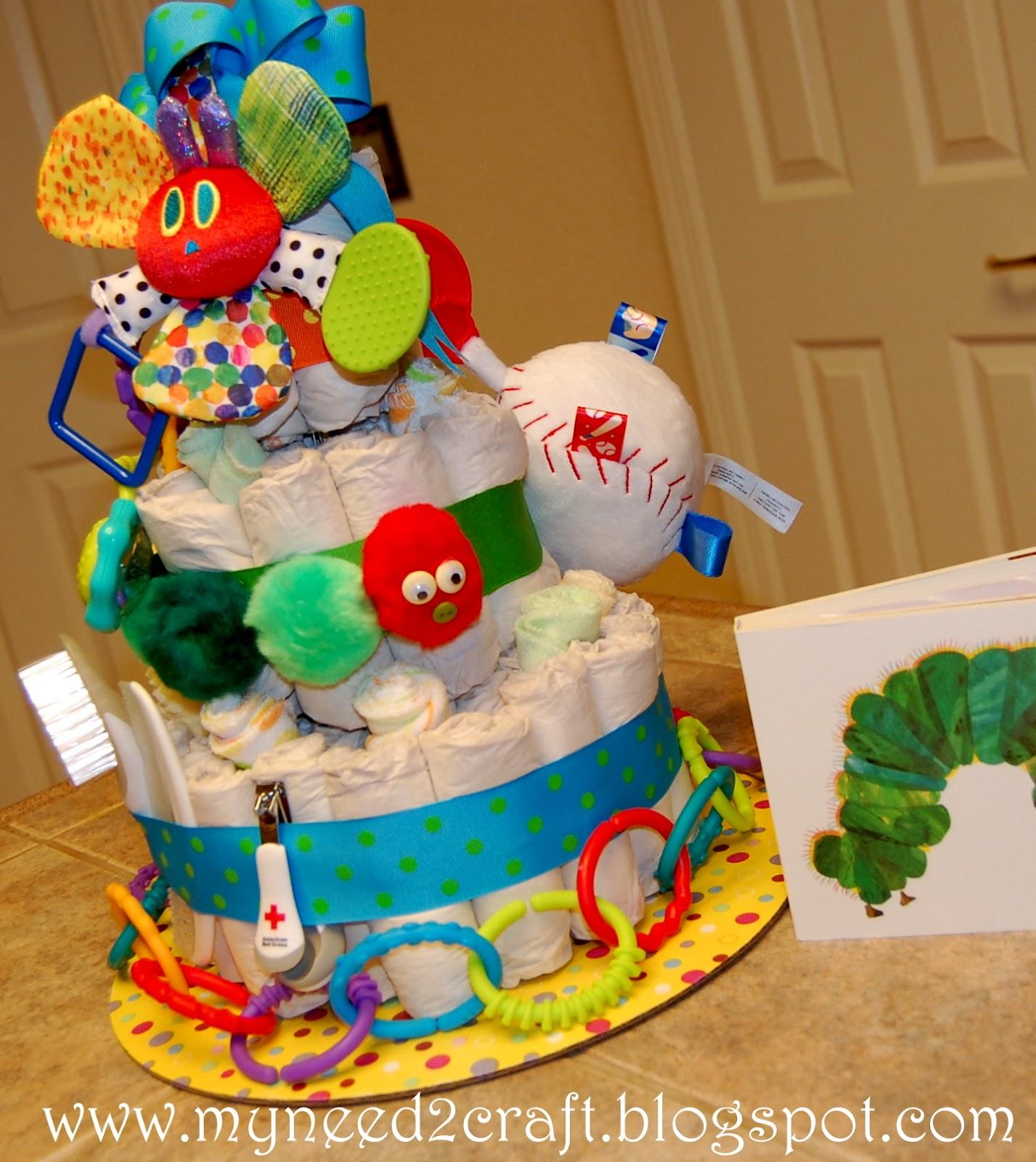 Myneed2craft Eric Carle Inspired Diaper Cake